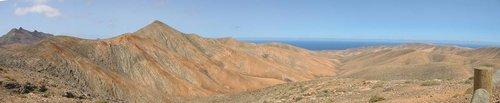 Aussichtspunkt am Cardón (619 m), Blick nach Westen
