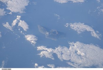 La Palma aus dem All gesehen