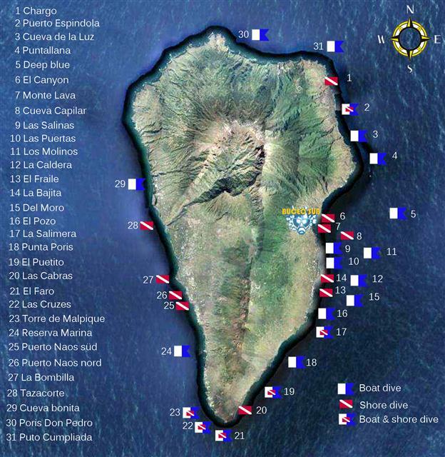 Tauchplätze auf La Palma
