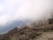 Wolkenkondensation am Famara-Masiv
