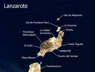 Satellitenbild Lanzarote