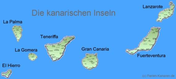 Kanaren Landkarte