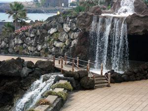 Teneriffa Playa Jardin Wasserfall