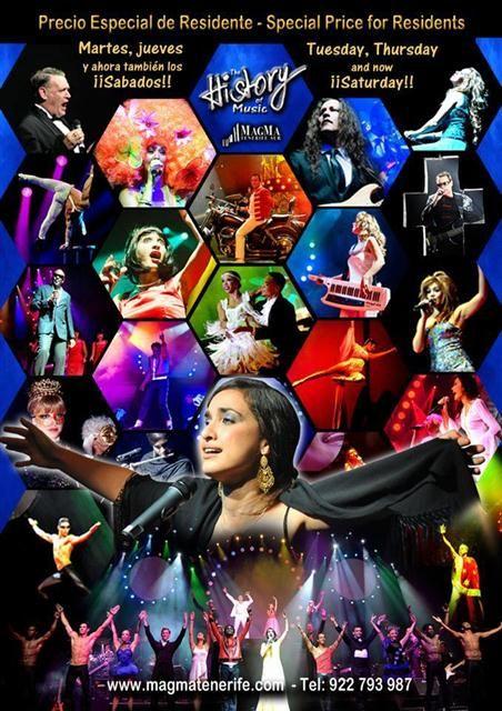 Plakat von History the Musical auf Teneriffa