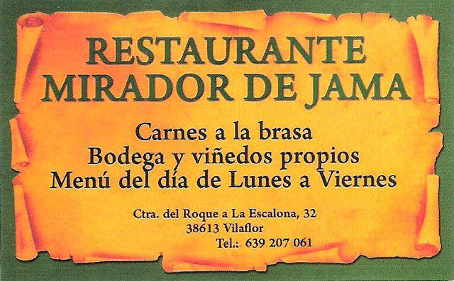 Restaurant Mirador de Jama im Süden Teneriffas