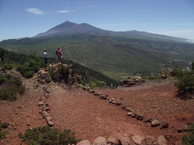 Blick zum Teide vom Degollada de la Mesa
