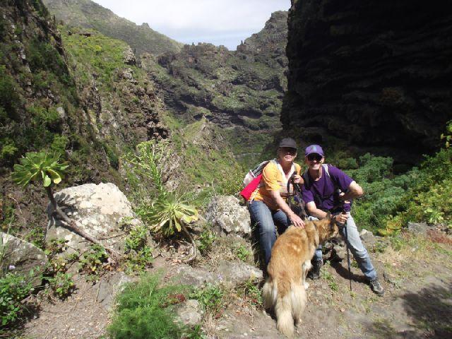 Die Steilwand von Cuevas Negras - Teno auf Teneriffa