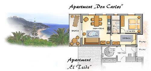 El Refugio - Appartment Don Carlos auf Teneriffa Nord in La Matanza