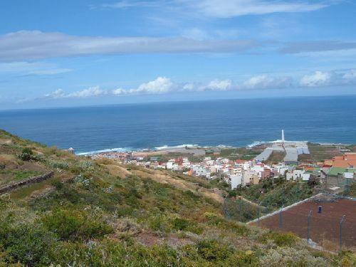 Blick auf Punta del Hidalgo auf Teneriffa