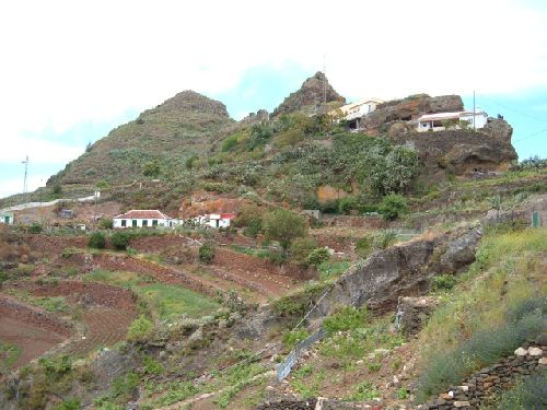 Blick auf Batan de Abajo auf Teneriffa