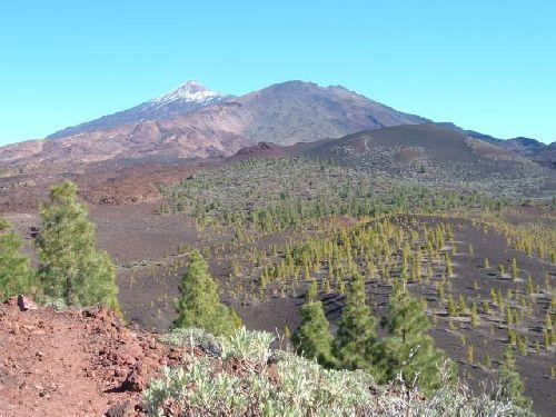 Blick vom Vulkan Montaña Samara