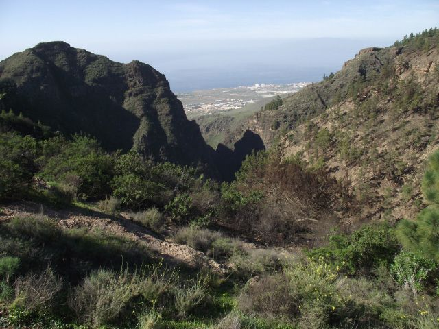 Teneriffa Wanderung - Ifonche - Blick in den Barranco del Infierno