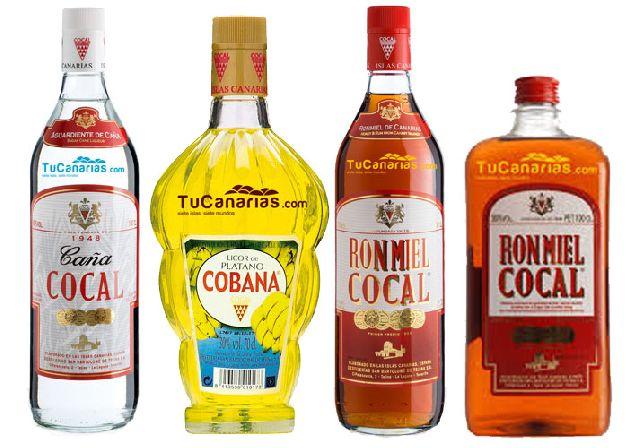Erzeugnisse der Destillerie Cocal auf Teneriffa