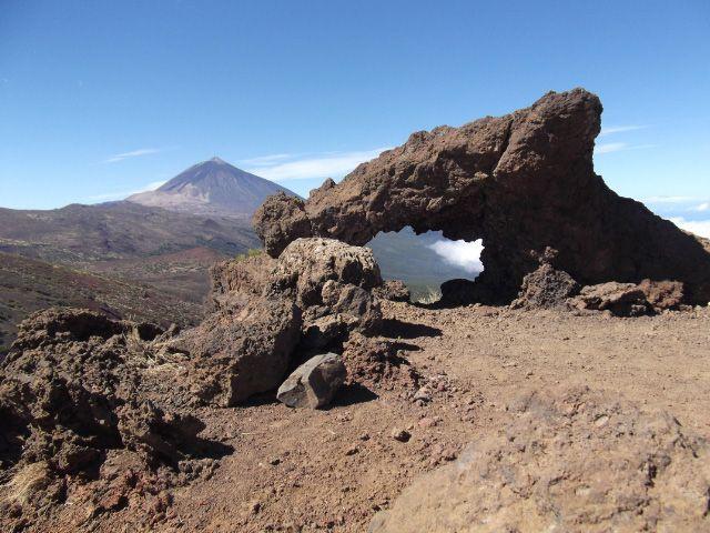 Blick zum Teide im Nationalpark auf Teneriffa