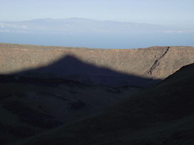 Teideschatten im Hintergrund Gran Canaria
