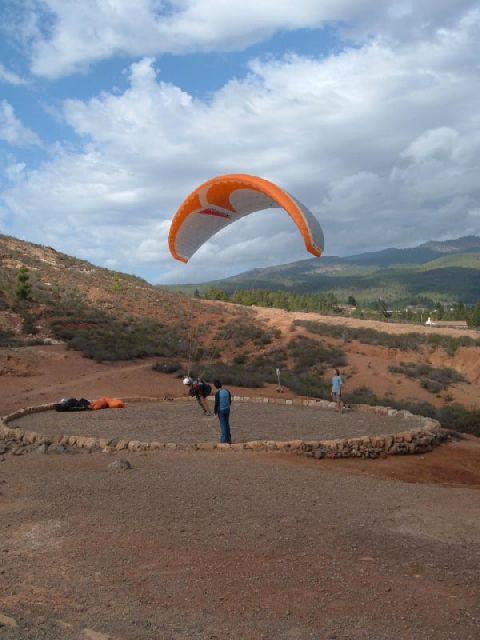 Paragliding Startplatz am Roque Imoque