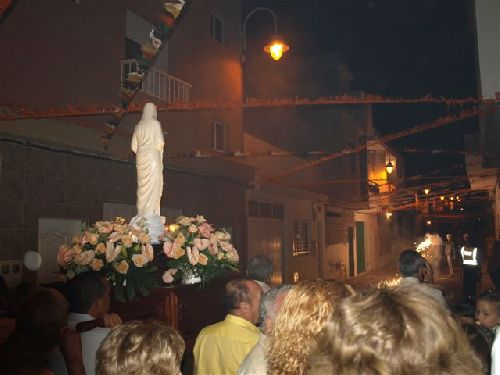 Heiligenfeier in La Listada